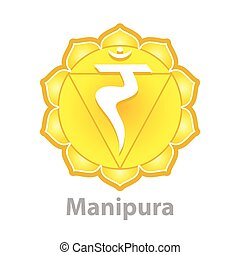 Chakra manipura isolated on white vector illustration