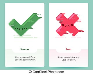 Green Tick and Red Cross Vector Couple - Green Tick and Red...