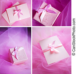 Pink present box with little bow