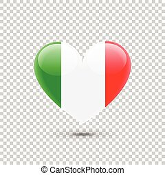 Italian Flag Heart Icon