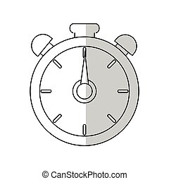 chronometer device icon over white background. vector...