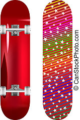 skateboard - vector illustration of skateboard upper and...