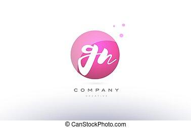 gn g n sphere pink 3d hand written alphabet letter logo - gn...