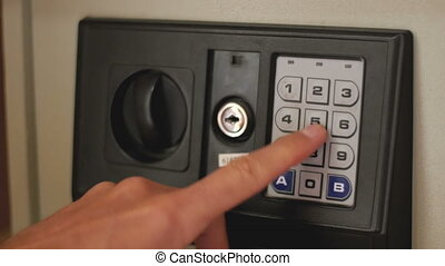 Opening a Safe with Numerical Keypad - Using Code Safe. Man...