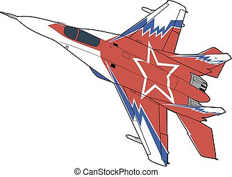 Russian jet fighter aircraft MiG-29.