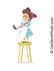 Little Girl with Soup Ladle