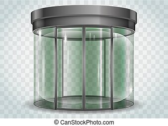 Round glass doors - The semicircular double automatic doors...