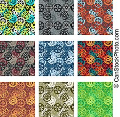 Gears pattern pack - Bike chainring pattern pack