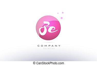 ze z e sphere pink 3d hand written alphabet letter logo - ze...