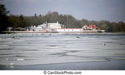Russia, winter coast of the Gulf of Finland,