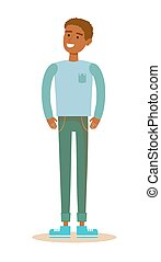 Young African American men. - Cartoon character illustration...
