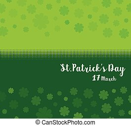 Vector Illustration of a St. Patrick's Day green clover leaves