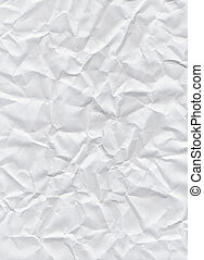 Crumpled white paper texture background.