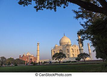 Taj Mahal in India in morning light