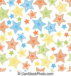 Seamless colorful stars pattern for tissue and postcards....