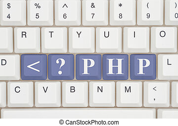 Computer coding with php, A close-up of a keyboard with...