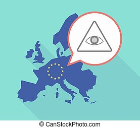EU map with an all seeing eye