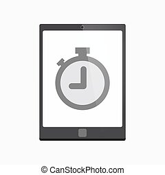 Isolated tablet pc with a timer