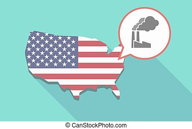 USA map with a factory