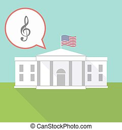 The White House with a g clef - Illustration of The White...