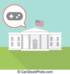 The White House with a game pad - Illustration of The White...