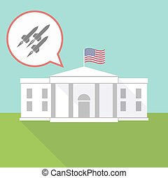 The White House with missiles - Illustration of The White...