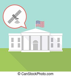The White House with a satellite