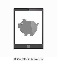 Isolated tablet pc with a pig