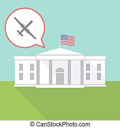 The White House with a war drone - Illustration of The White...