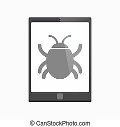 Isolated tablet pc with a bug