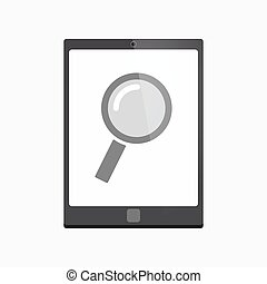 Isolated tablet pc with a magnifier