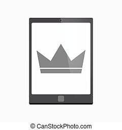 Isolated tablet pc with a crown