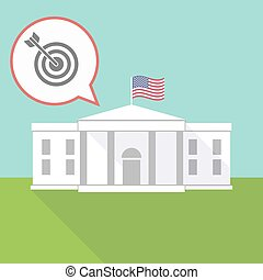 The White House with a dart board - Illustration of The...