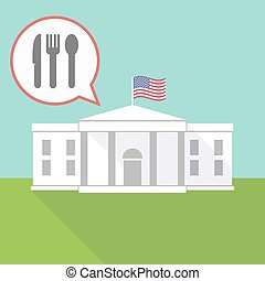 The White House with cutlery - Illustration of The White...