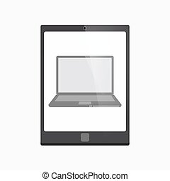 Isolated tablet pc with a laptop