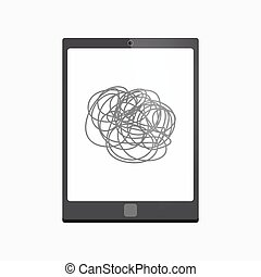 Isolated tablet pc with a doodle