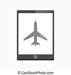 Isolated tablet pc with a plane