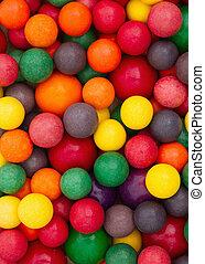 Colorful multi colored bubble gum background