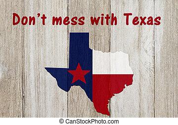 A rustic patriotic Texas message