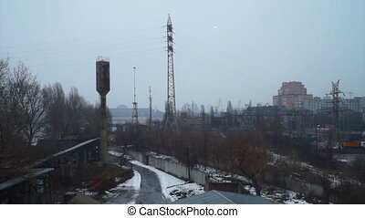 Snow factory place city - Winter season with power heating...