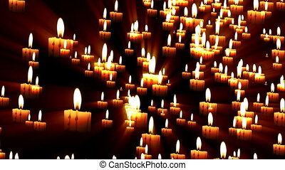 Candles Forming Faith Word