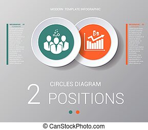 Circles diagram Elements Template infographics 2 positions -...