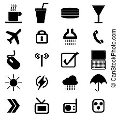symbols set - set of media signs and symbols