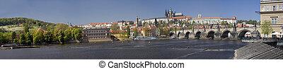 Prague castle panorama Czech republic, Europe