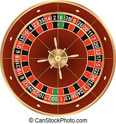 roulette - isolated wheel of american roulette