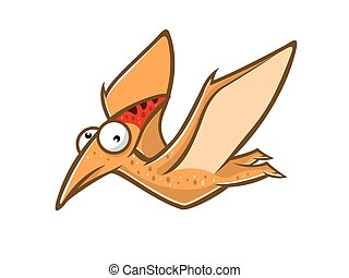 Cartoon Funny Pteranodon - cartoon pteranodon was flying