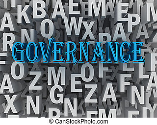 3d Governance concept word cloud concept