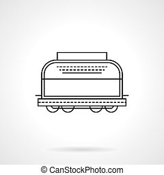 Refrigerated boxcar flat line vector icon - Symbol of...