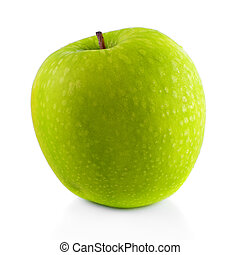 Granny Smith apple. - Granny Smith apple on white background