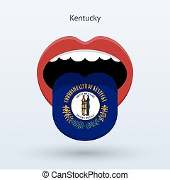 Electoral vote of Kentucky. Abstract mouth. Vector...